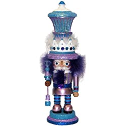 Kurt Adler Hollywood Nutcracker, 18-Inch, Purple and Blue