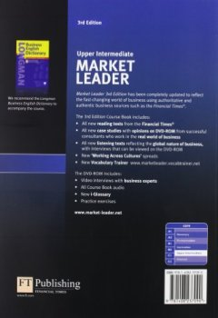 Livres Couvertures de Market Leader 3rd Edition Upper Intermediate Coursebook & DVD-Rom Pack.
