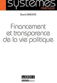 Livres Couvertures de Financement et transparence de la vie politique