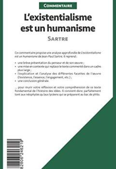 Livres Couvertures de L'existentialisme est un humanisme de Sartre (Commentaire): Comprendre La Philosophie Avec Lepetitphilosophe.Fr
