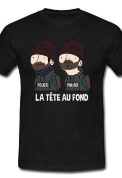 Livres Couvertures de Spreadshirt Wankil La Tête au Fond T-Shirt Homme
