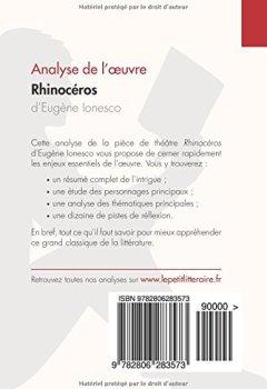 Livres Couvertures de Rhinocéros d'Eugène Ionesco (Analyse de l'oeuvre): Comprendre la littérature avec lePetitLittéraire.fr