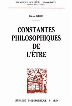 Livres Couvertures de Constantes philosophiques de l'être