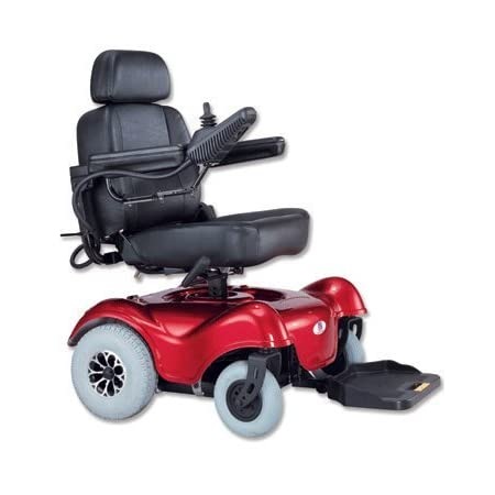 The IMC Heartway Rumba HP4 power electric wheelchair is easily disassembled for transport, a great choice in powered mobility! The 4600 RPM 450W motor and 2- 12v batteries provide the power; electronic, self-generating brakes and rear anti-tip caster...