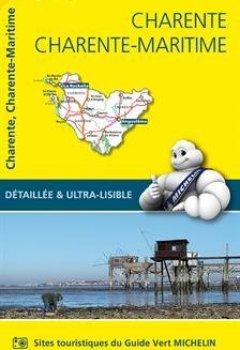 Livres Couvertures de Carte Charente, Charente-Maritime Michelin