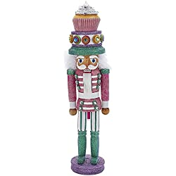 "Kurt Adler 17"" Hollywood Cupcake Hat Nutcracker"