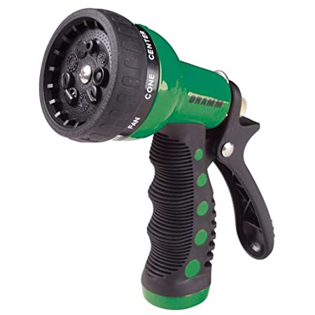 9 spray patterns. Quick click pattern changing. Ergonomic insulated grip. heavy duty construction. Lifetime guarantee.