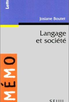 Livres Couvertures de Langage et société