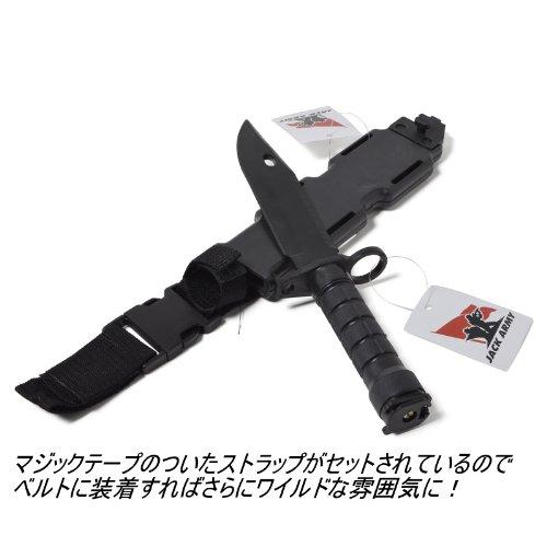 [Jack Army]正規代理店 サバゲ-コンバット ナイフ ダミー ゴム 接近戦 ケース付き ダミーナイフ