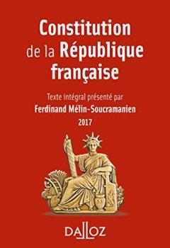 Livres Couvertures de Constitution de la République française 2017 - 14e éd.