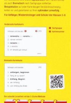 Abdeckungen Karteikarten Russisch Basiswortschatz: Mehr als 500 Karteikarten. Über 1500 Wörter.