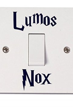 Livres Couvertures de Harry Potter Lot de 2 autocollants pour interrupteur Motif Lumos Nox