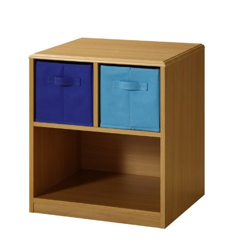 Image of Kids Nightstand with Baskets (Beech / Blue) (21.5