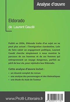 Livres Couvertures de Eldorado de Laurent Gaudé (Analyse approfondie): Approfondissez votre lecture des romans classiques et modernes avec Profil-Litteraire.fr