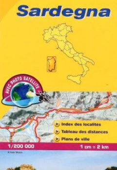 Livres Couvertures de Carte LOCAL Sardaigne