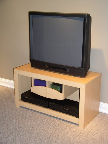 Image of Unique Design Beech Finish Entertainment TV Stand (AZ00-30248x21010)