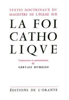 Livres Couvertures de Textes doctrinaux du magistère de l'église sur la foi catholique