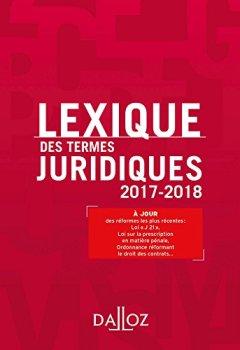 Livres Couvertures de Lexique des termes juridiques 2017-2018 - 25e éd.
