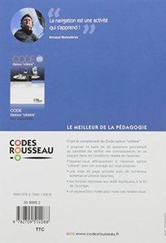 Livres Couvertures de Code Rousseau test option côtière 2017