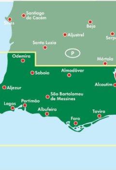 Livres Couvertures de Carte routière : Algarve