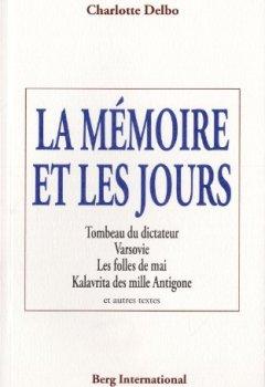 Livres Couvertures de La mémoire et les jours