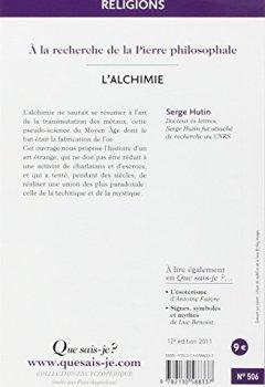 Livres Couvertures de L'alchimie