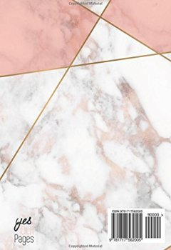 Livres Couvertures de Agenda 2018-2019: Agenda Scolaire de Juillet 2018 à Août 2019, Semainier simple & graphique, motif abstrait marbre blanc et rose