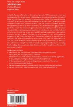 Livres Couvertures de Solid Mechanics : A Variational Approach, Augmented Edition