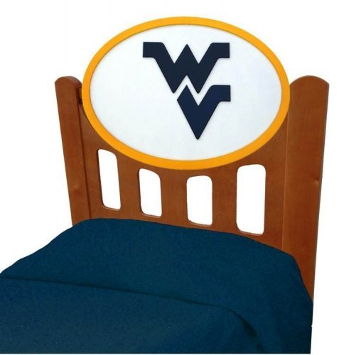 Image of West Virginia Mountaineers Kids Wooden Twin Headboard With Logo (C0526S-West Virginia)