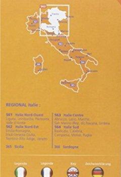Livres Couvertures de Carte Italie Nord-Est Michelin
