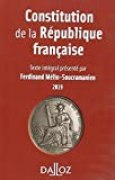 Constitution de la République française. 2019