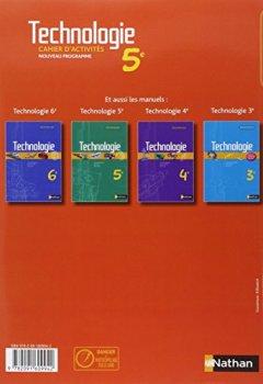 Livres Couvertures de Technologie 5e : Cahier d'activits (1Cdrom)