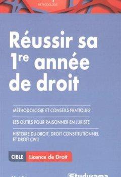 Livres Couvertures de Réussir sa première année de droit