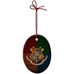 Harry Potter Crest Custom Christmas Holidays Oval Ceramic Ornaments - Home Ornaments Gifts