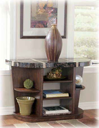Image of Lacey Brown Sofa Console Table (T678-4)