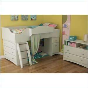 Image of South Shore South Shore Imagine Kids 2 Piece Bedroom Set in Pure White (3560A3-2PKG)