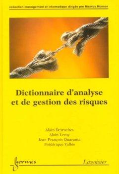 Livres Couvertures de Dictionnaire d'analyse et de gestion des risques