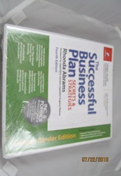 Livres Couvertures de The Successful Business Plan: Secrets & Strategies by Rhonda M Abrams (2003-12-01)