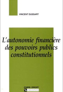 Livres Couvertures de Autonomie financière des pouvoirs publics constitutionnels