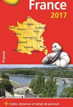 Livres Couvertures de Carte France Michelin 2017