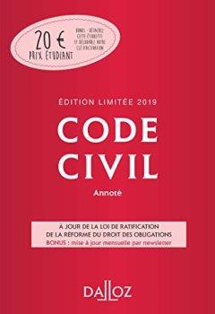 Livres Couvertures de Code civil 2019 annoté. Édition limitée - 118e éd.