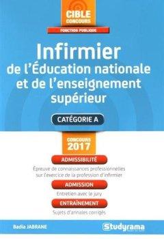 Livres Couvertures de Infirmier de l'Education nationale et de l'enseignement supérieur : Catégorie A