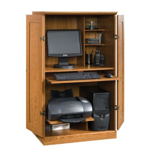 Picture of Comfortable Sauder Orchard Hills Collection Computer Armoire (B003NX5RS6) (Computer Armoires)