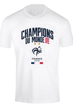Livres Couvertures de Equipe de FRANCE de football T-Shirt FFF - Champion du Monde 2018 - Collection Officielle