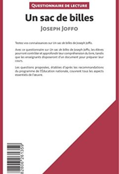 Livres Couvertures de Un sac de billes de Joseph Joffo: Questionnaire de lecture