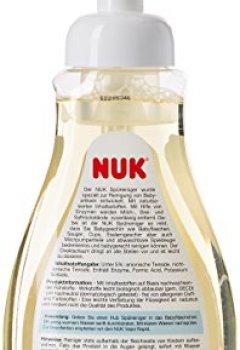 Livres Couvertures de Nuk Lot de 2 bouteilles de liquide vaisselle avec pompe à mousse pour biberons et tétines Sans parfum ni colorants Économique et facile à doser 2 x 380ml