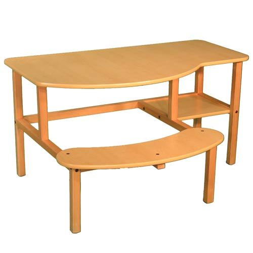 Picture of Comfortable Wild Zoo Furniture B-D MPL-TAN-WZ Grade School Buddy Computer Desk in Maple with Tan Trim (B0029L5Y2C) (Computer Desks)