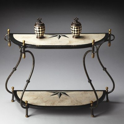 Image of Metalworks Distressed Demilune Console Table (B0051BYXX8)