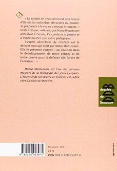 Livres Couvertures de L'esprit absorbant de l'enfant - pédagogie Montessori