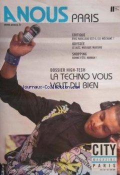 A NOUS PARIS [No 441] du 01/06/2009 - city magazine paris dossier high-tech - la techno vous veut du bien critique - eric naulleau est-il si mechant odysse - le jazz musique majeure shopping de Indie Author